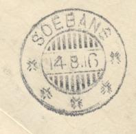 Nederlands Indië - 1916 - KB SOEBANG Als Aankomststempel Op R-cover Uit KB SOEKABOEMI - Nederlands-Indië