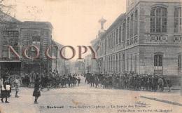 93 - Montreuil - Rue Colmet Lepinay - La Sortie Des Ecoles - écoliers - Montreuil
