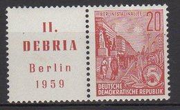 DDR / Briefmarkenausstellung DEBRIA, Berlin / MiNr. 580 B Zf - Ungebraucht