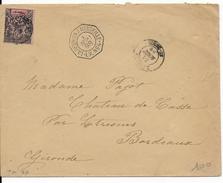 REUNION - 1898 - SEUL SUR LETTRE - ENVELOPPE De SAINT DENIS => BORDEAUX Par LIGNE MARITIME N°4 - Reunion Island (1852-1975)