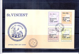 FDC St;Vincent - Soufriere Relief Fund 1979 - Complete Set (to See) - St.Vincent (1979-...)