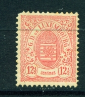 LUXEMBOURG  -  1880  Coat Of Arms  121/2c  Haarlem Print  Wide Margins  Mounted/Hinged Mint - 1859-1880 Wapenschild