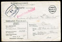France  - Carte D ' Un Prisonnier Du Stalag IV A  Pour Caen En 1941 -  Ref A40 - Marcophilie (Lettres)