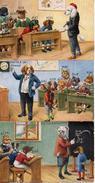 45 Animaux Humanisés, Chien Classe D'école X 3 Style Thiele - Animali Abbigliati