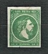 SPAGNA 1875 - Correo Carlista - Prov. Basche E Navarra - Don Carlos VII - 50 C. - II Tipo - MH - Un:ES IC 4b - 1873-74 Reggenza