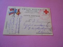 245 - CPA, Croix-Rouge Française , Franchise, Tampon Rouge, Le Commandant De Section Parc Artillerie, 1915 - Guerre 1914-18