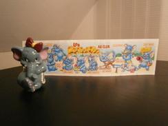 KINDER 1995 LES ELEPHANTOS CINDY COQUETTE + BPZ - Monoblocs