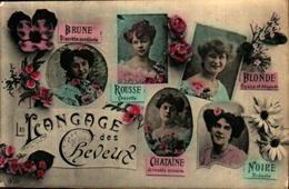 Langage Des Cheveux - Brune, Rousse, Blonde, Chataine, Noire - Femmes