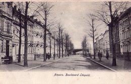 """Antwerpen      """"  Boulevard  Léopold """"   Kaart Van Begin 1900 - Antwerpen"""