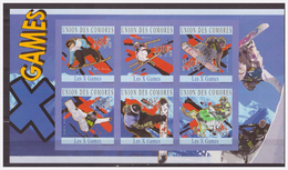 0513 Comores 2010 X Wintergames Snowboard Ski S/S MNH Imperf - Skisport