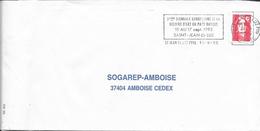 PYRENEES ATLANTIQUES 64  - ST JEAN DE LUZ  -  FLAMME : VOIR DESCRIPTION   1993  - THEME LIVRE - Postmark Collection (Covers)