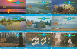 Hungary 9 Phonecards With National Parks, Owl, Birds,salamander, Deers, Flowers - Phonecards