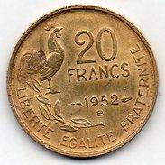 """France - 20 Francs """"Guiraud"""" 1952 B - Frankreich"""