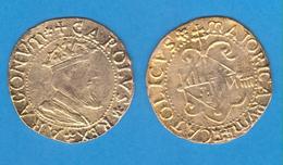 CARLOS I De ESPAÑA 1.516-1.556 4 REALES Plata(Oro) Mallorca Réplica  DL-12.064 - Test- Und Nachprägungen