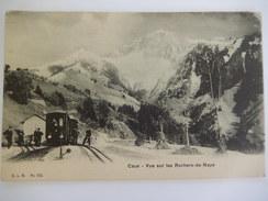 CPA - CAUX - VUE SUR LES ROCHERS DE NAYE - TRAIN - R222 - VD Vaud