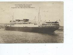 """Theme-Transport-Paquebot-Une Vue Du Navire """"S/S FELIX-ROUSSEL """" Des Messageries Maritimes - Dampfer"""
