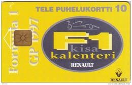 FINLANDE FINLAND  PRIVEE RENAULT CALENDAR F1 FORMULA 1 10U  NEUVE MINT RARE - Finlande
