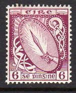 Ireland 1922-34 6d Definitive, Wmk. SE, Lightly Hinged Mint, SG 79 - 1922-37 Stato Libero D'Irlanda