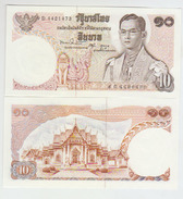 Thailand 10 Baht 1969 Pick 83  UNC - Thailand