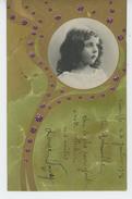 ENFANTS - Jolie Carte Fantaisie Gaufrée Portrait Fillette ART NOUVEAU (embossed Postcard) - Portraits