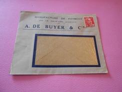 7 - Lettre , Manufacture De Faymont , Par Le Val D'Ajol, Vosges , A.DE BUYER& Cie , 1948 - Marcophilie (Lettres)