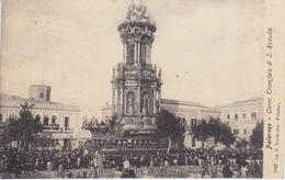 CARTOLINA - PALERMO (SICILIA) -CARRO TRIONFALE DI S. ROSALIA -  VIAGGIATA NEL 1908 - Palermo