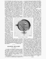 MANOMETRE METALLLIQUE De M. MIGNOT 1891 - Sciences & Technique