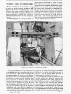 MACHINE A SCIER LES PIERRES DURES De MM. D'ESPINE Et ACHARD  1891 - Ciencia & Tecnología