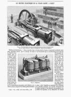 LE SECTEUR ELECTRIQUE DE LA PLACE DE CLICHY à PARIS   1891 - Paris