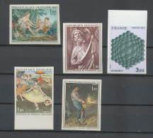 Départ 1 Euro - Cote 449 Euros - Lot De Timbres De FRANCE Non Dentelé  (imperforate) Tableau (tableaux Painting) - France