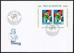 LETTRE AVEC BLOC PRO JUVENTUTE FDC OBLITERE 1.12.1962 . C/DES TIMBRES SUISSES Nr:J199. - Pro Juventute