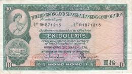 BILLETE DE HONG KONG DE 10 DOLLARS DEL AÑO 1978 (BANKNOTE) - Hong Kong
