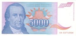 YUGOSLAVIA 5000 DINARA 1994 P-141a UNC  [ YU141a ] - Yugoslavia