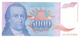YUGOSLAVIA 5000 DINARA 1994 P-141a UNC  [ YU141a ] - Yougoslavie