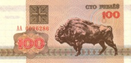 BELARUS 100 PУБЛЁЎ (RUBLES) 1992 P-8 UNC  [BY108a] - Belarus