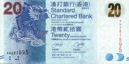 HONG KONG 20 DOLLARS 2010 (2012) P-297a UNC  [HK418a] - Hongkong