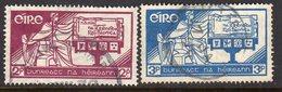 Ireland 1937 New Constitution Set Of 2, Used, SG 105/6 - 1922-37 Stato Libero D'Irlanda