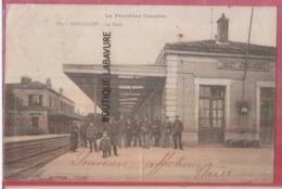 54 - AVRICOURT--La Gare--Animé--La Frontiere Illustrée - France