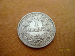 Germany 1 Mark 1908 D - [ 2] 1871-1918 : Empire Allemand