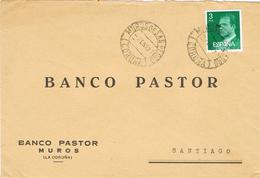24037. Carta MUROS De SAN PEDRO (Coruña) 1977. Banco Pastor - 1931-Hoy: 2ª República - ... Juan Carlos I