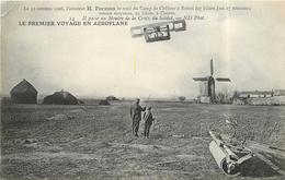 LE PREMIER VOYAGE EN AÉROPLANE - Le 30 Octobre 1908,l'aviateur H Farman Se Rend à Reims,au Moulin De La Croix Du Soldat. - ....-1914: Vorläufer