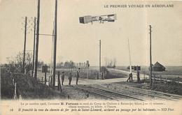 LE PREMIER VOYAGE EN AÉROPLANE - Le 30 Octobre 1908,l'aviateur H Farman Se Rend à Reims,près De Saint Léonard. - ....-1914: Vorläufer