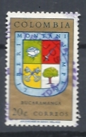 COLOMBIA        1961 Department Of The Atlantic Ocean USED COAT OF ARMS - Colombia