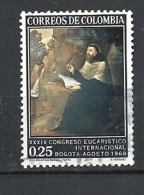 """COLOMBIA 1968 The 39th International Eucharistic Congress, Bogota   USED  """"St. Augustine"""" - Vazquez - Colombia"""
