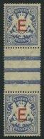BAYERN D 4ZSII **, 1908, 20 Pf. ultramarin im senkrechten Zwischenstegpaar (dort wie üblich 1x gefaltet), Pracht, M