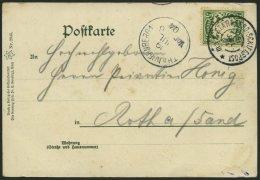 BAYERN 61y BRIEF, 1904, 5 Pf. grün auf Ansichtskarte mit Stempel STARNBERG-SCHIFFSPOST C III, Prachtkarte