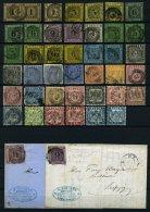 BADEN o,Brief , saubere Partie von 41 gestempelten Werten und 2 Briefen, etwas unterschiedliche Erhaltung mit diversen P