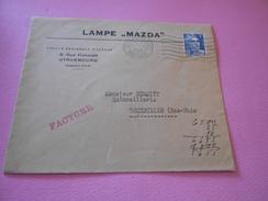 49 - Lettre, LAMPE MAZDA , 8 Rue Finkmatt, STRASBOURG , 1948 - Marcophilie (Lettres)
