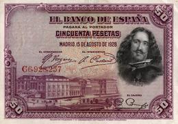 BILLET DE  CINQUENTA PESETAS - Espagne
