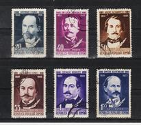 1960 -  Ecrivains Roumains(II)  Mi No 1827/1832 Et Yv No 1664/1669 - Gebraucht